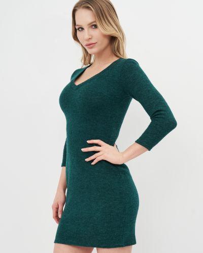 Платье мини с декольте - зеленое Niktan