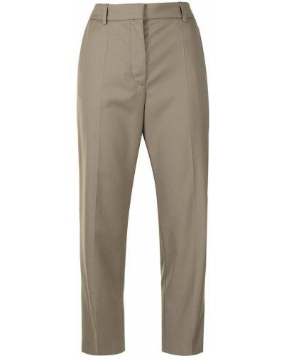 Коричневые шерстяные брюки Joseph