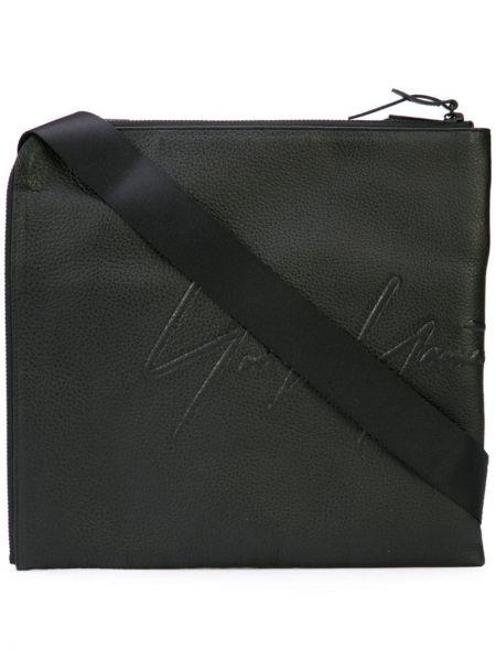 Czarna torebka skórzana Yohji Yamamoto