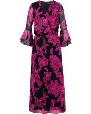 Платье макси с длинными рукавами с рукавами Bonprix