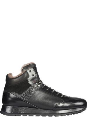 Черные кроссовки замшевые Fabi