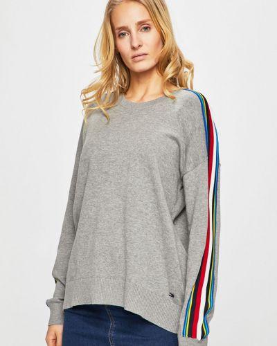 Sweter z wzorem jasny szary Tommy Hilfiger