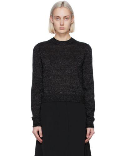 Черный длинный свитер из мохера с воротником Victoria Victoria Beckham