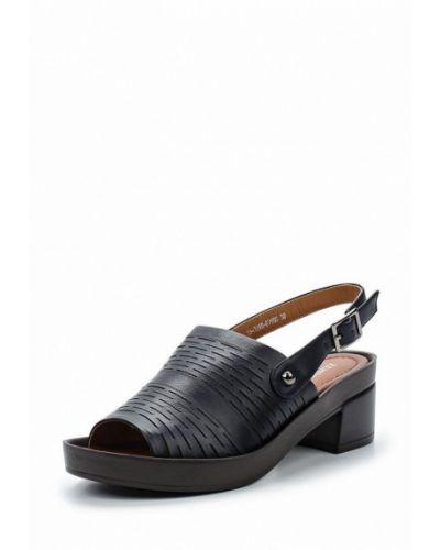 Босоножки на каблуке кожаные Zenden Woman