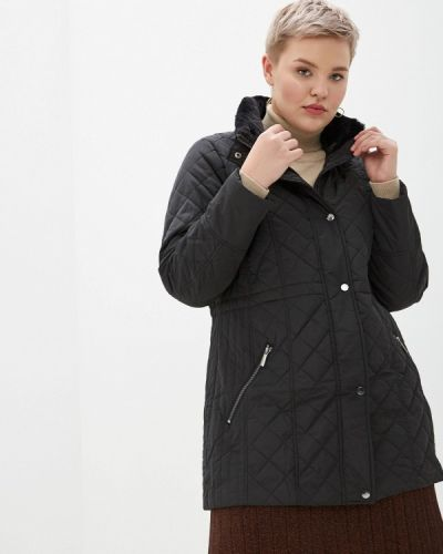 Утепленная куртка демисезонная черная Evans