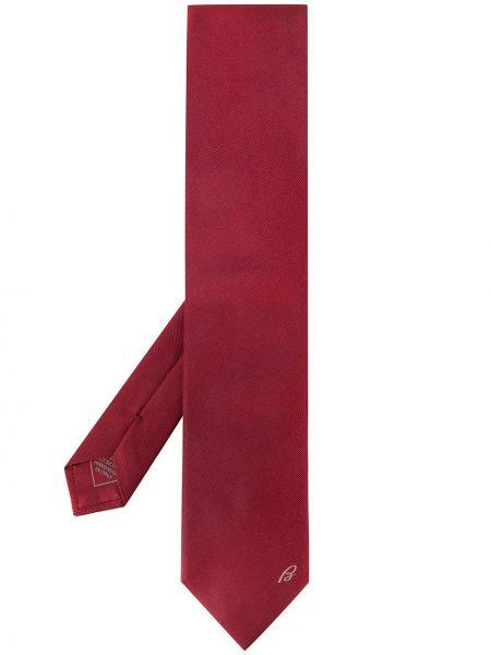 Красный галстук в рубчик Brioni