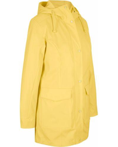 Желтый дождевик с капюшоном Bonprix