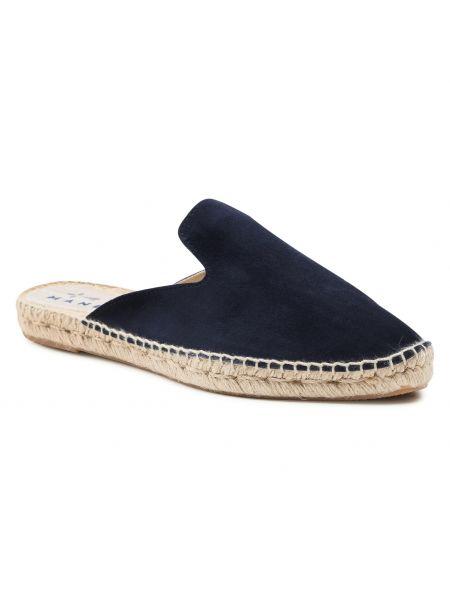 Niebieskie sandały zamszowe Manebi