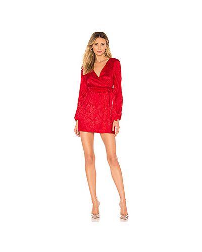 Платье с поясом с запахом с длинными рукавами By The Way.