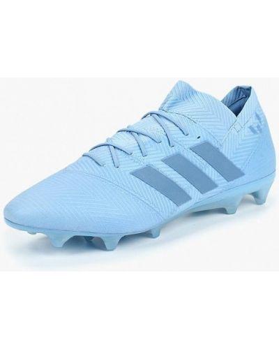 Голубые бутсы Adidas