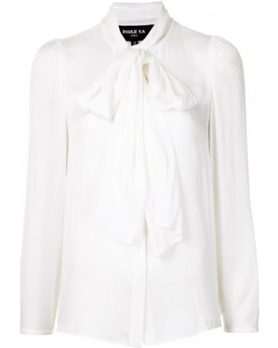 Шелковая рубашка - белая Paule Ka