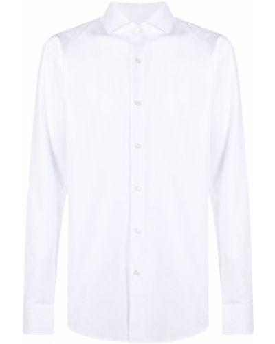Белая классическая рубашка с длинными рукавами с воротником Boss Hugo Boss