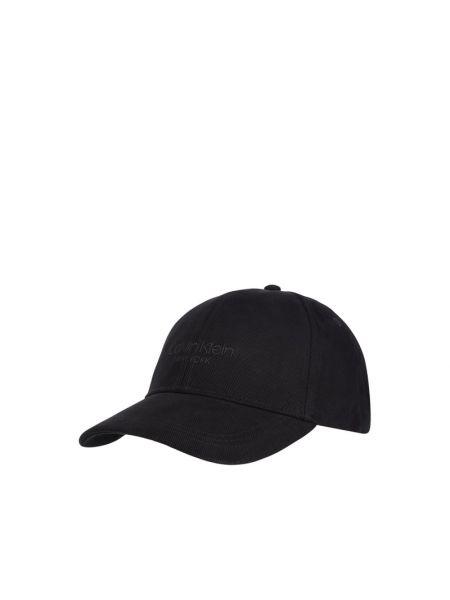 Bawełna bawełna czarny czapka baseballowa Ck Calvin Klein