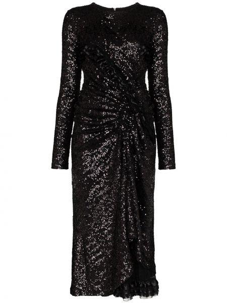 Платье миди с пайетками со складками Preen By Thornton Bregazzi