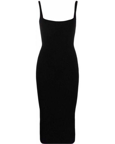Черное приталенное платье миди Ssheena