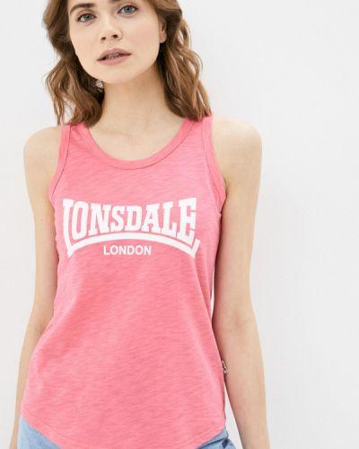 Розовая майка Lonsdale