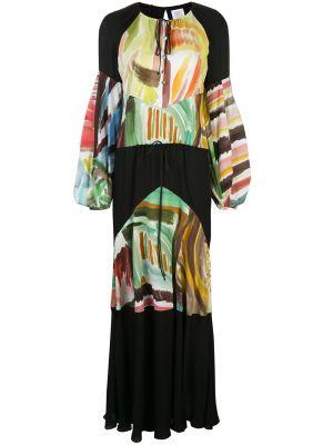 Платье макси длинное - черное Rosie Assoulin