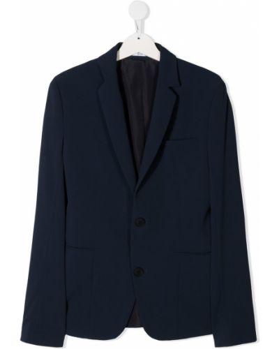 С рукавами синий удлиненный пиджак с карманами Boss Kids