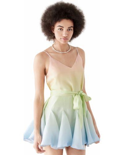 Текстильное платье с поясом с принтом Yumi Kim