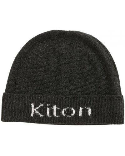 Szara z kaszmiru czapka Kiton