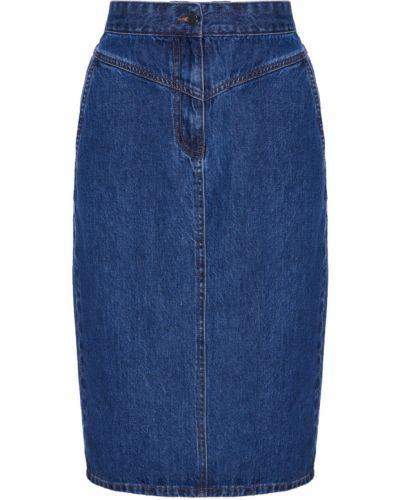 Джинсовая юбка с кокеткой с карманами Akhmadullina Dreams