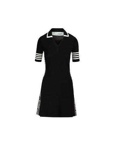 Повседневное платье черное Off-white