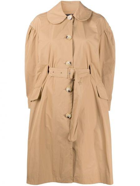 Klasyczny brązowy płaszcz z paskiem Simone Rocha