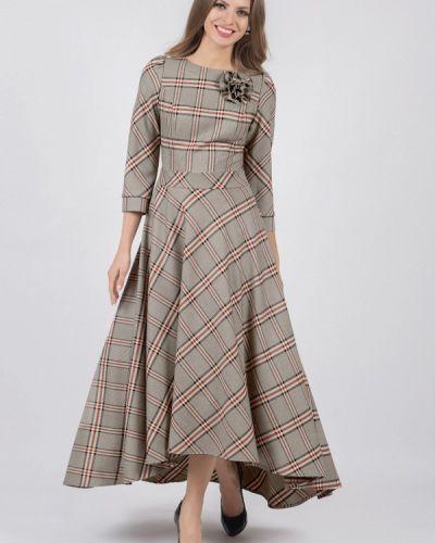 Повседневное платье серое осеннее Olivegrey