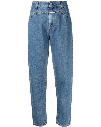 Свободные синие джинсы классические с карманами Closed