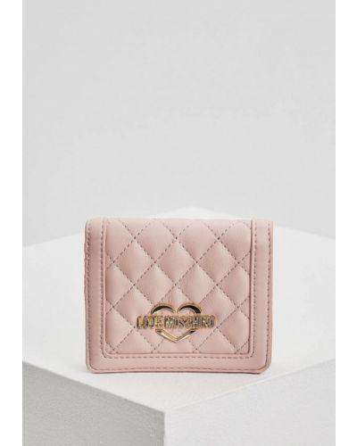 Розовый кошелек Love Moschino