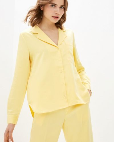 Желтая блузка с длинными рукавами Mbym