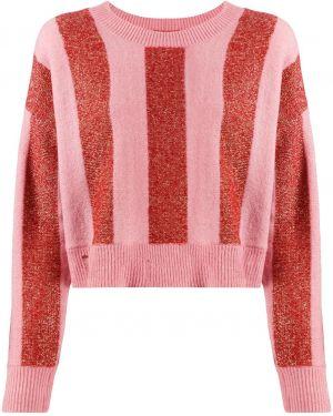 Розовый акриловый вязаный свитер в рубчик Wildfox