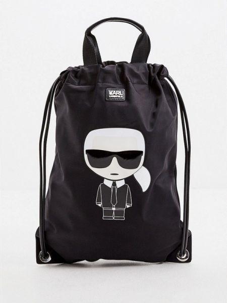 Рюкзак рюкзак-мешок черный Karl Lagerfeld