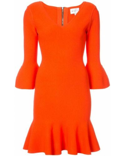 Платье с V-образным вырезом солнце приталенное Milly