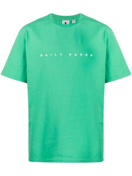 Koszula krótkie z krótkim rękawem prosto z haftem Daily Paper