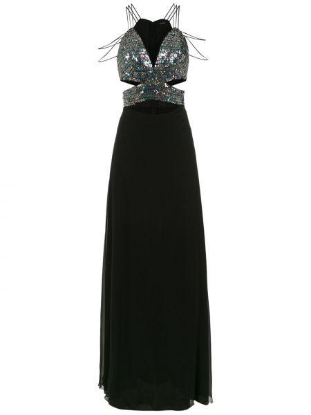 Шелковое платье макси - черное Tufi Duek