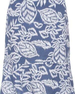 Синяя юбка хлопковая Finn Flare