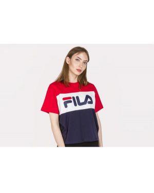 T-shirt bawełniana - granatowa Fila