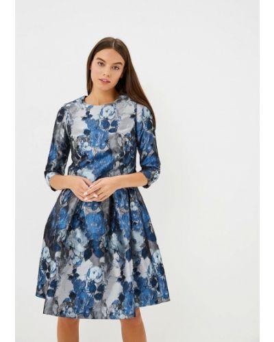 Повседневное платье осеннее синее Madam T