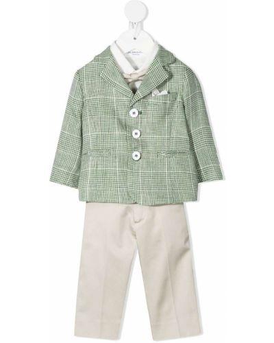 Zielony garnitur bawełniany z długimi rękawami Colorichiari