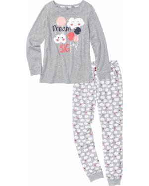 Пижама с длинными рукавами пижамный Bonprix