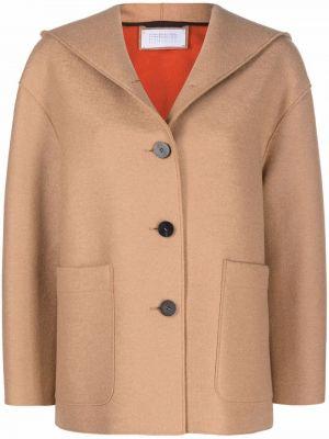 Коричневая куртка с заплатками Harris Wharf London