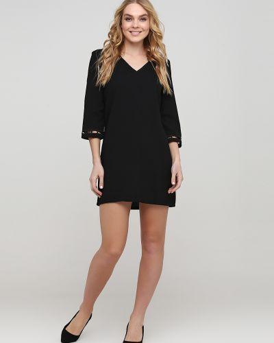 Свободное черное платье свободного кроя Sweewe