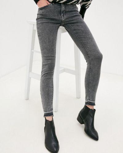 Серые джинсы-скинни узкого кроя Ichi