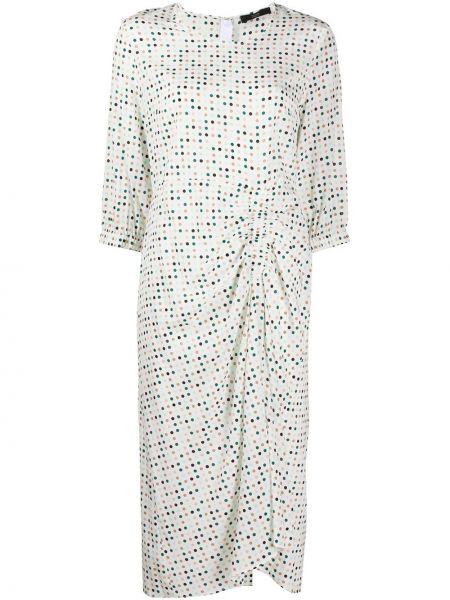 Платье миди в горошек с драпировкой Steffen Schraut