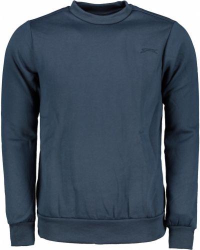 Klasyczny długi sweter bawełniany z haftem Slazenger