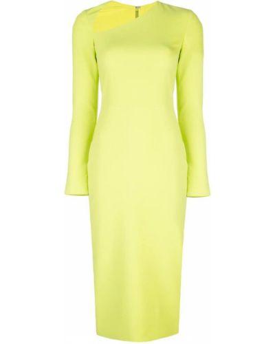 Облегающее платье миди - зеленое Christian Siriano