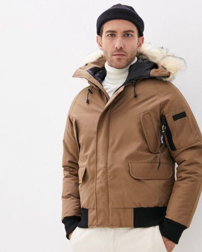 Коричневая утепленная куртка Paragoose