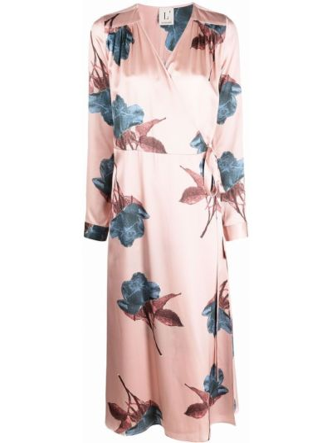 Платье миди на запах - розовое Lautre Chose
