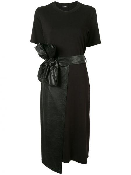 Платье мини с запахом кожаное Goen.j